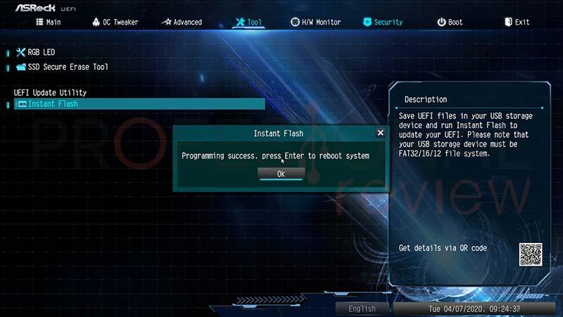 Actualizar BIOS ASRock paso10