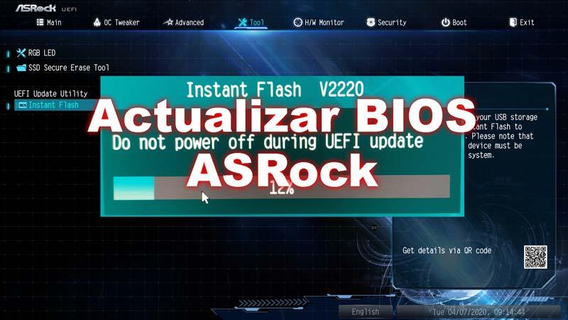 Actualizar BIOS ASRock