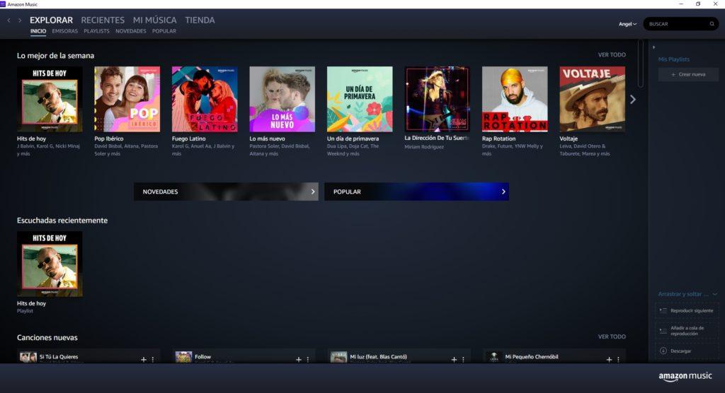 Amazon music PC