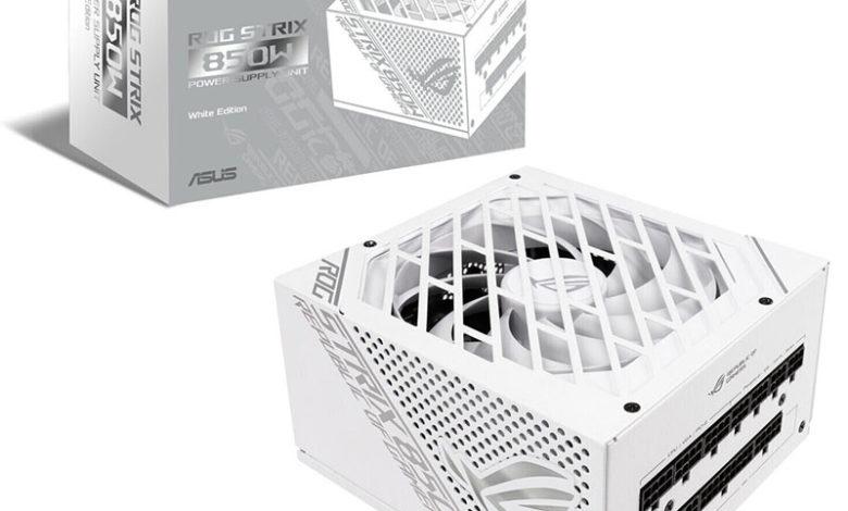 Photo of Asus ROG Strix 850W White Edition: fuente con certificado 80 Plus Gold