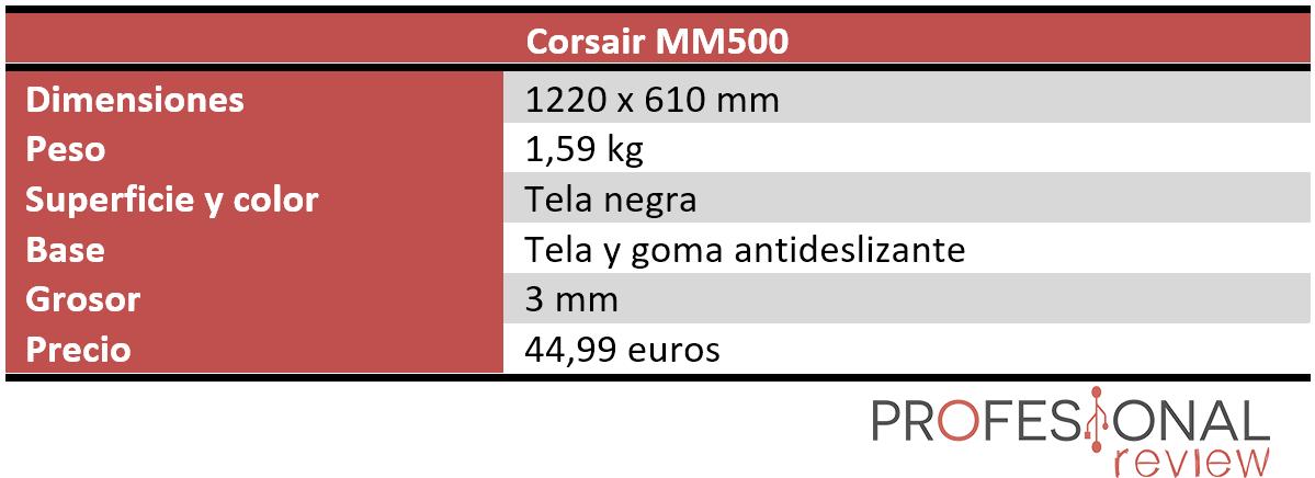 Corsair MM500 Características