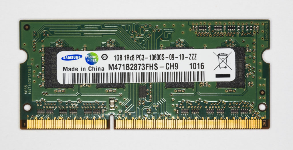 DDR3 Samsung tamaño memorias