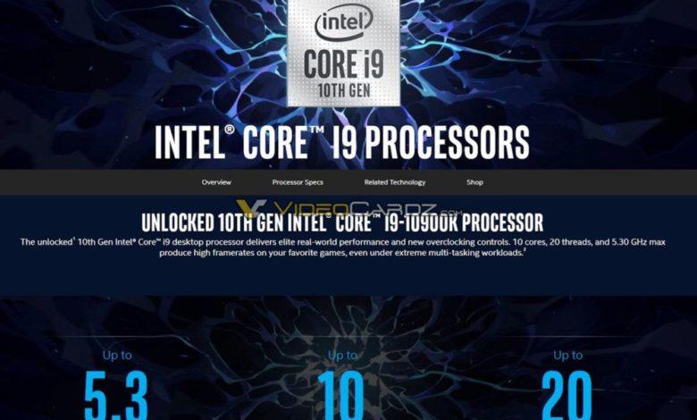 Photo of Intel Core i9-10900K, i7-10700K e i5-10600K se filtran en la red