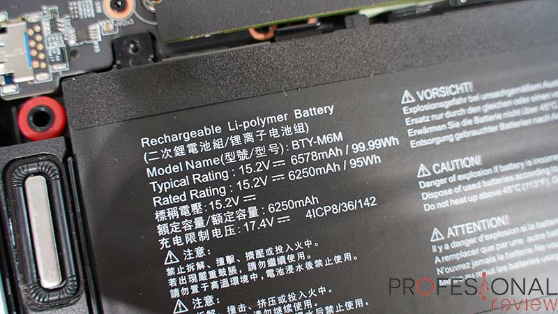 MSI GE66 Raider Batería