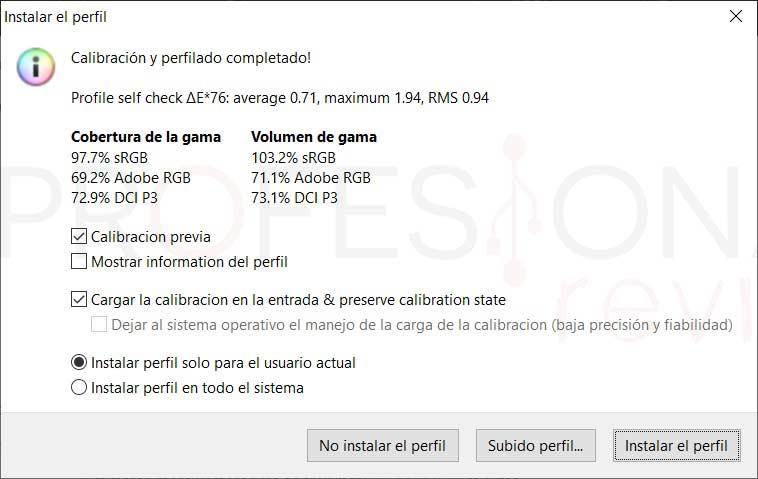 MSI GS66 Stealth 10SFS Calibración