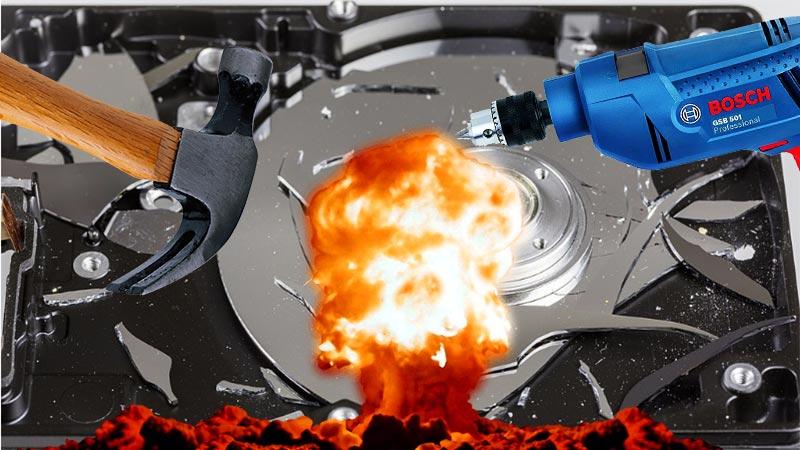 Destruir un disco duro