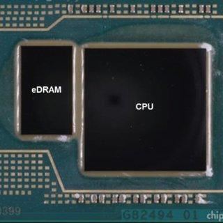 eDRAM integrada tamaño memorias