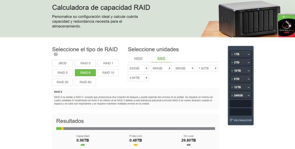 mejores calculadoras RAID Seagate
