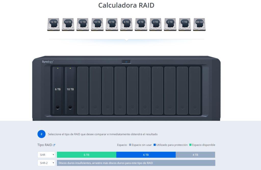mejores calculadoras RAID Synology