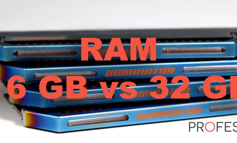 Photo of 16 GB vs 32 GB – Rendimiento de memoria RAM en juegos y ventajas