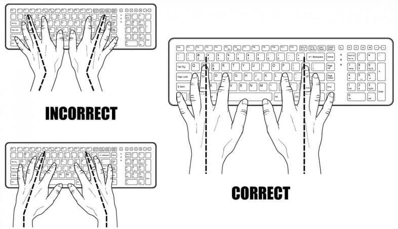 malos hábitos frente al teclado