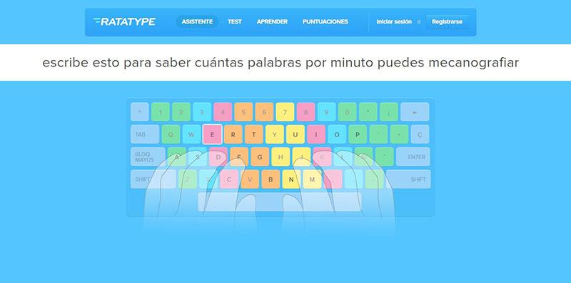 escribir sin mirar el teclado