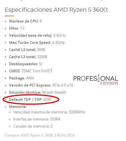 ryzen 3600 tdp default