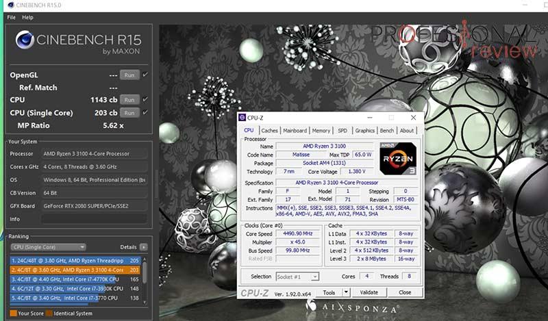 AMD Ryzen 3 3100 Overclocking