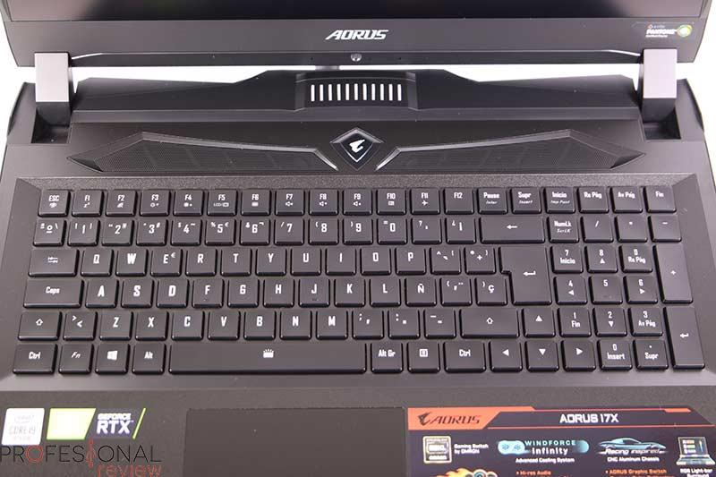 AORUS 17X YB teclado
