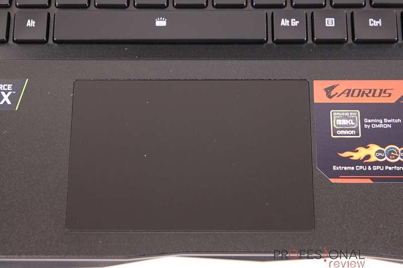 AORUS 17X YB touchpad