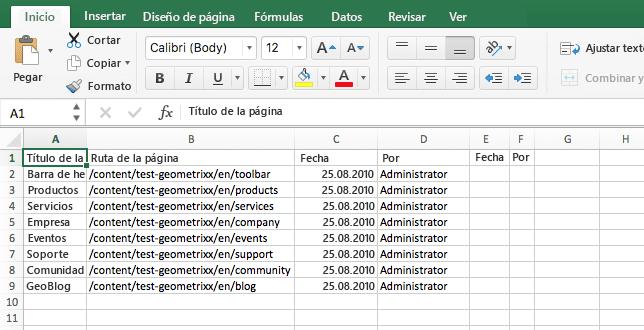 archivo csv