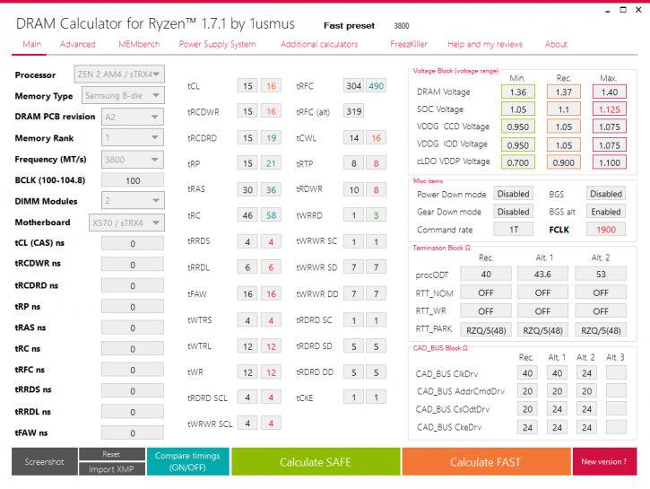 DRAM Calculator for Ryzen 1.7.1