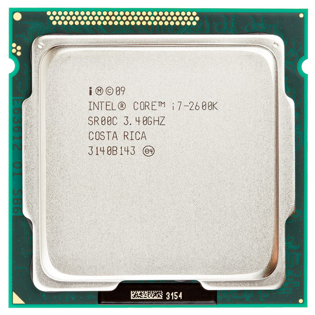 Intel Core i7 2600K CPU top view