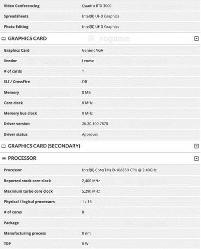 Lenovo ThinkPad P54 P74