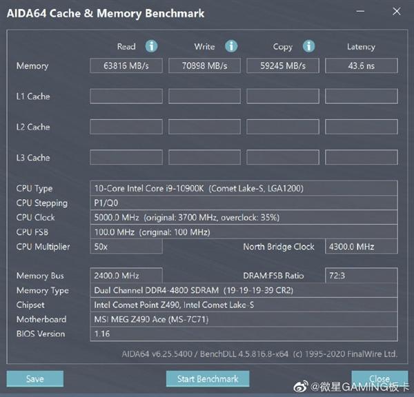 MSI MEG Z490 recibe una BIOS