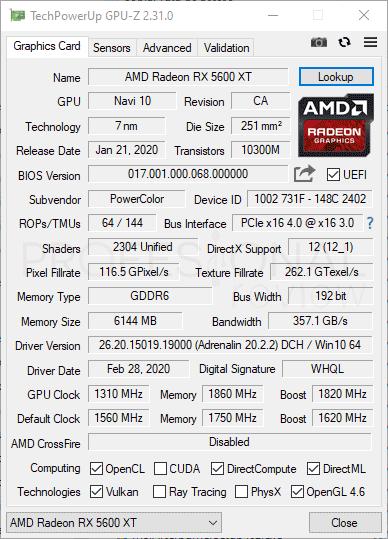 PowerColor Red Dragon Radeon RX 5600 XT
