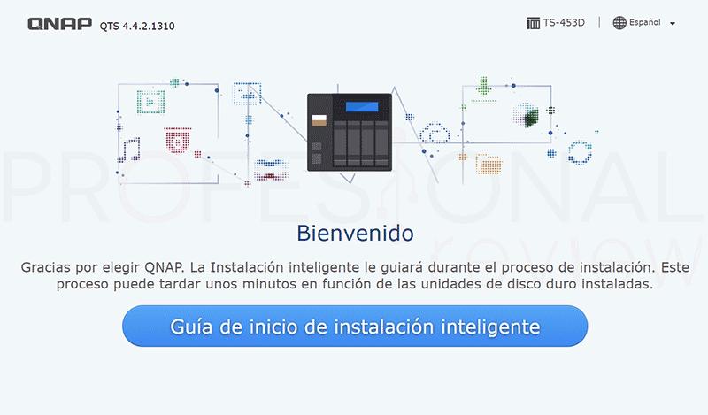 QNAP TS-453D Instalación
