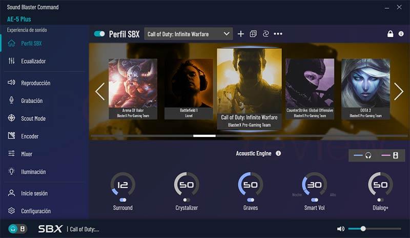 Creative Sound BlasterX AE-5 Plus Software