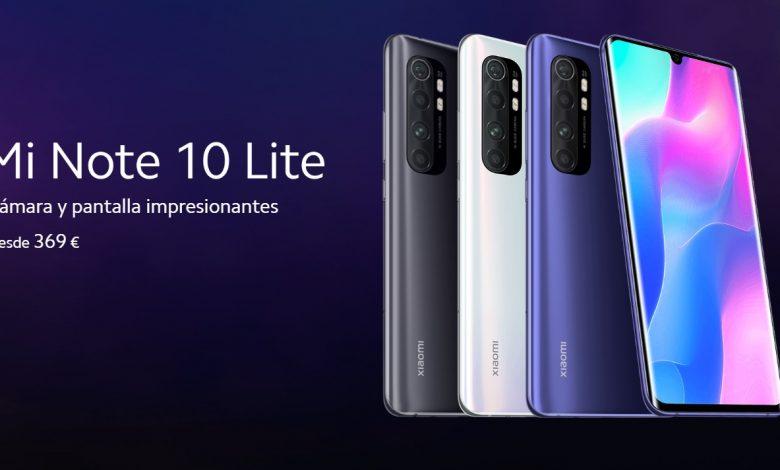 Photo of El Xiaomi Mi Note 10 Lite llega a España por 369 euros