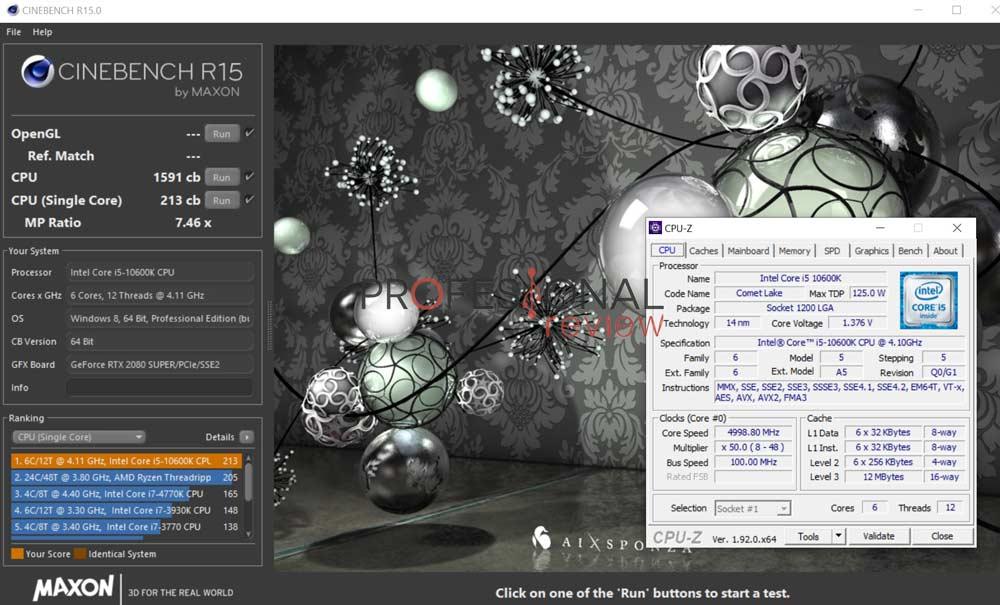 Intel Core i5-10600K Overclocking