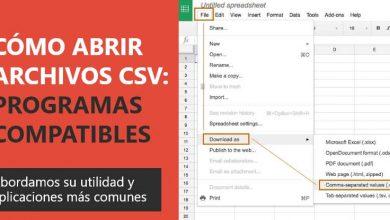 Photo of Cómo abrir un archivo csv: programas compatibles