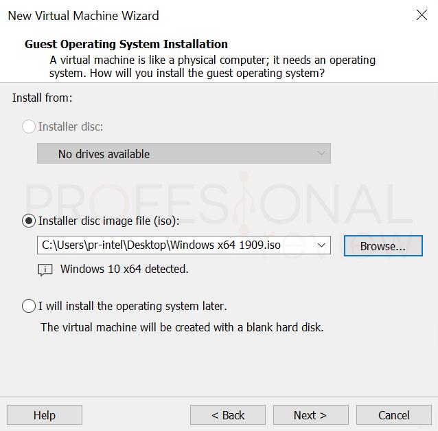 VMware máquina virtual paso10