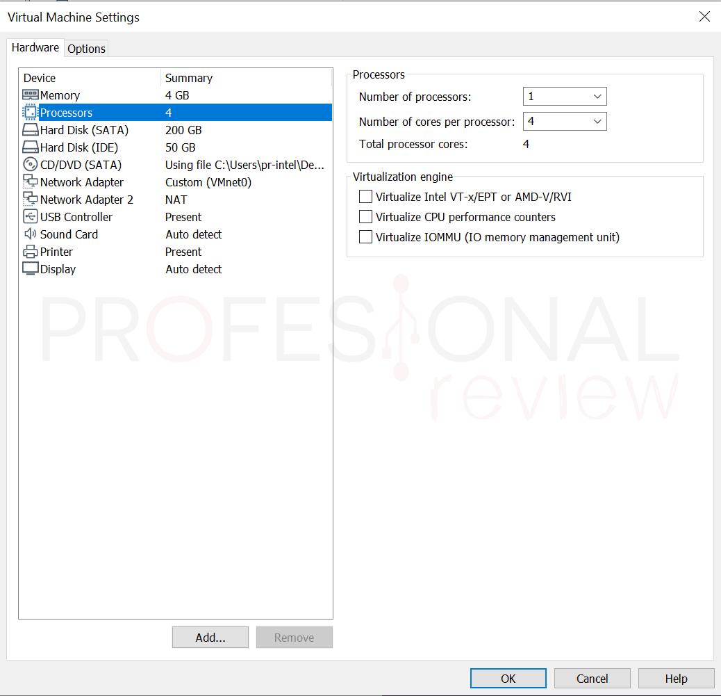 VMware máquina virtual paso40