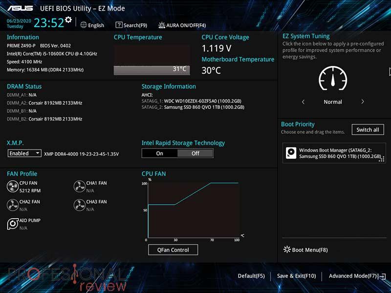 Asus Prime Z490-P BIOS