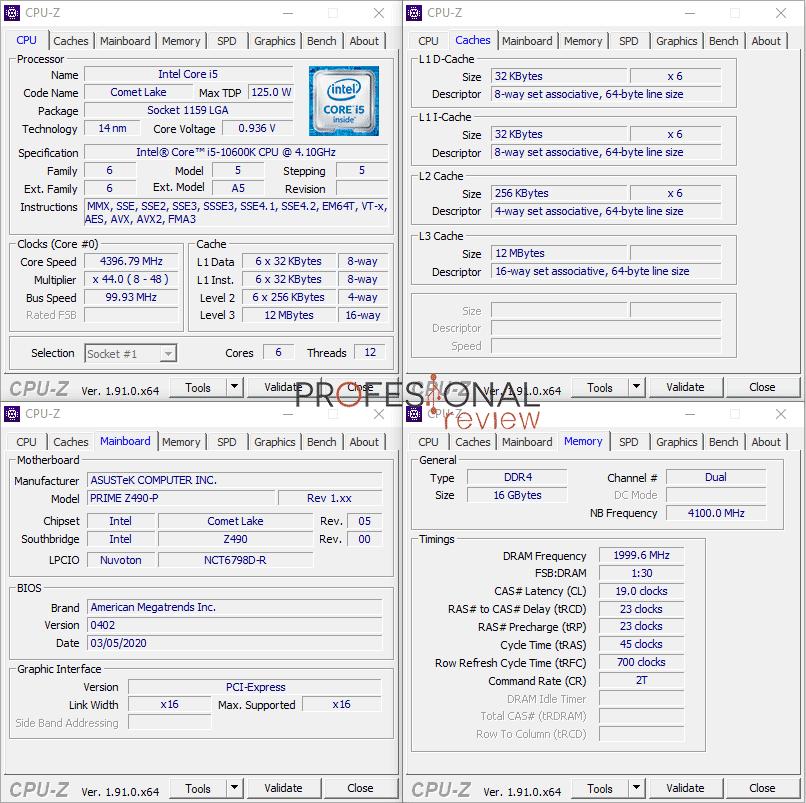 Asus Prime Z490-P CPU-Z