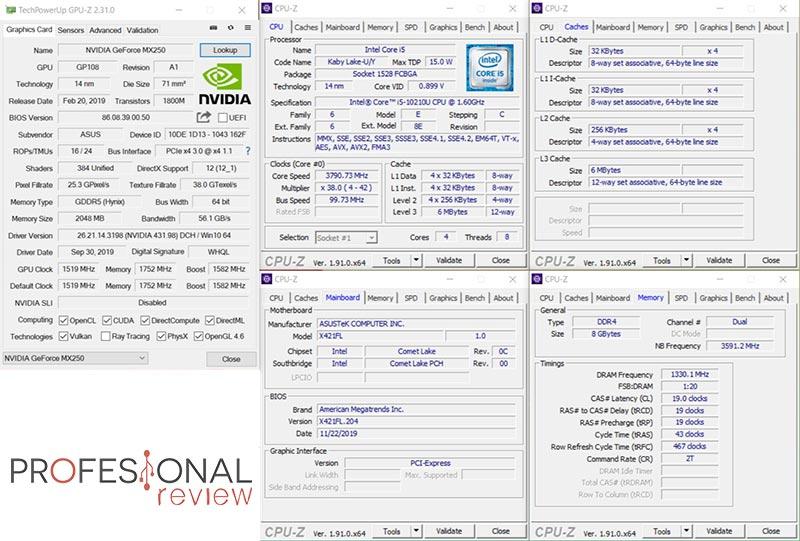 Asus VivoBook S14 CPU-Z