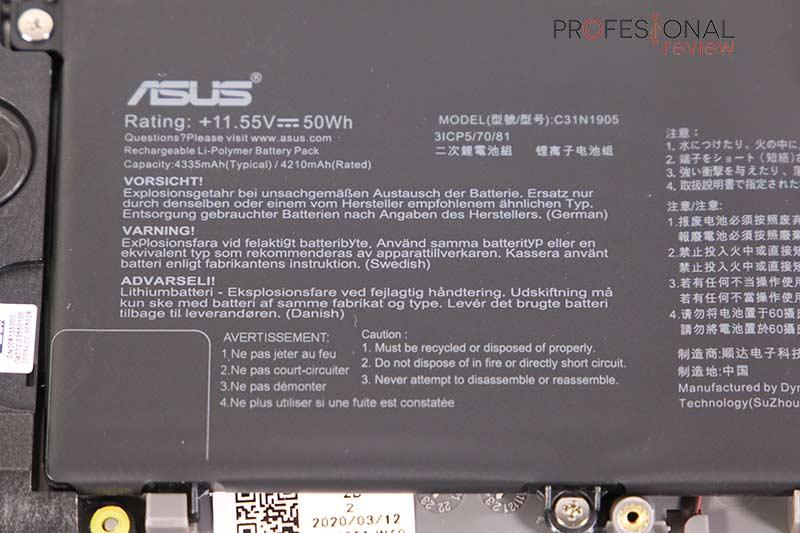 Asus VivoBook S14 Batería