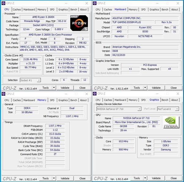 B550 CPU-Z