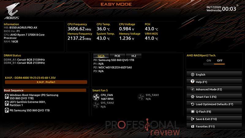 B550I AORUS PRO AX BIOS
