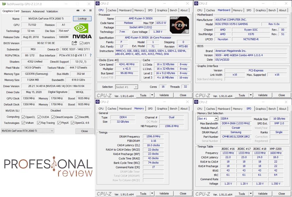Corsair ONE a100 CPU-Z