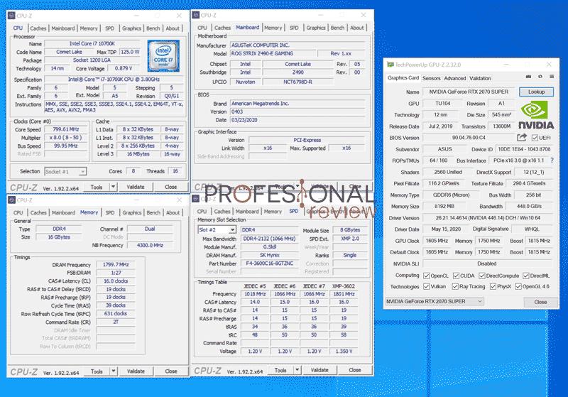 Intel Core i7-10700K CPU-Z