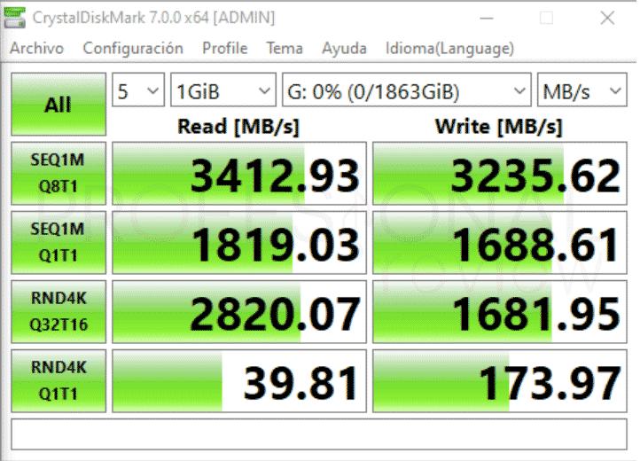 KIOXIA EXCERIA Plus SSD Benchmark