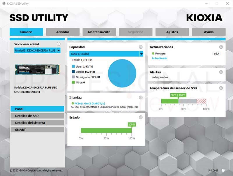 KIOXIA EXCERIA Plus SSD Software