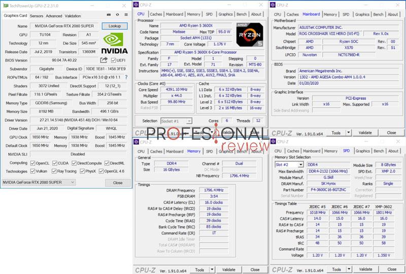 PC ATX vs PC ITX CPU-Z