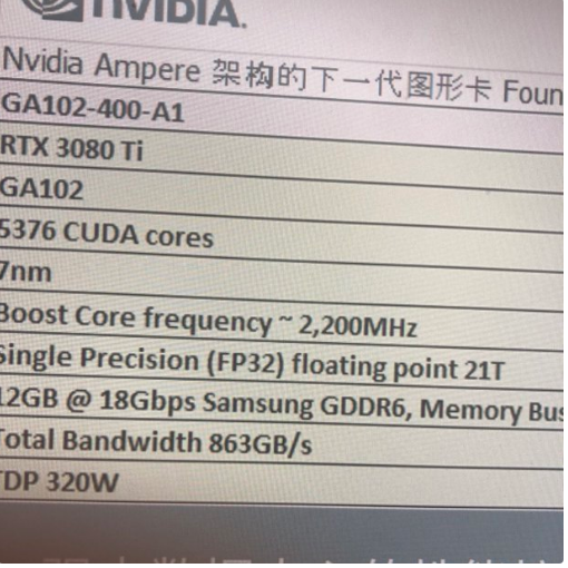 RTX 3080 Ti especificaciones