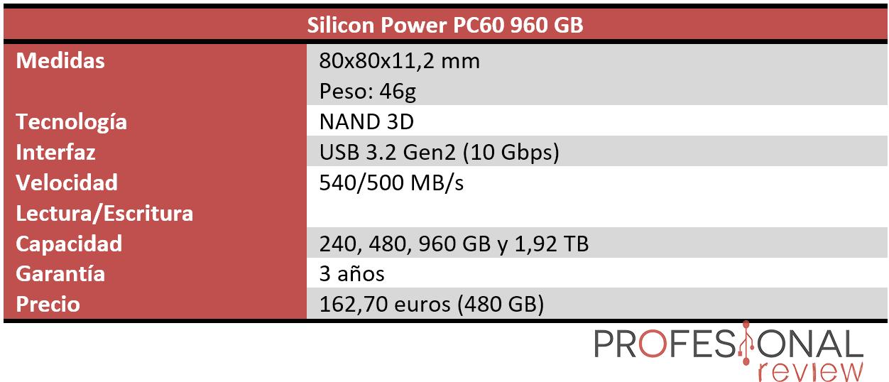 Silicon Power PC60 Caracteristicas