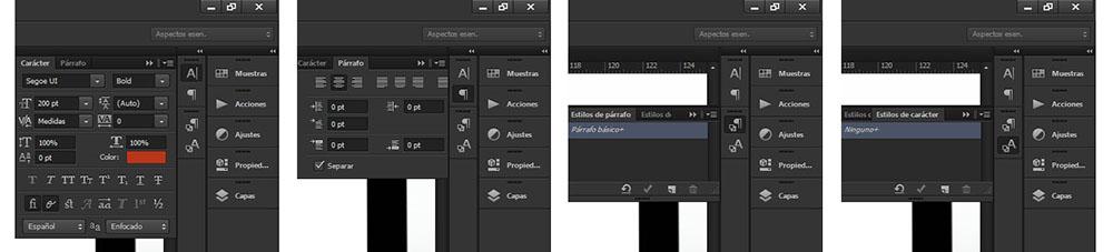agregar tipografías en Photoshop