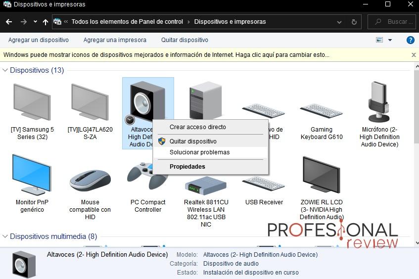 dispositivo USB no se reconoce