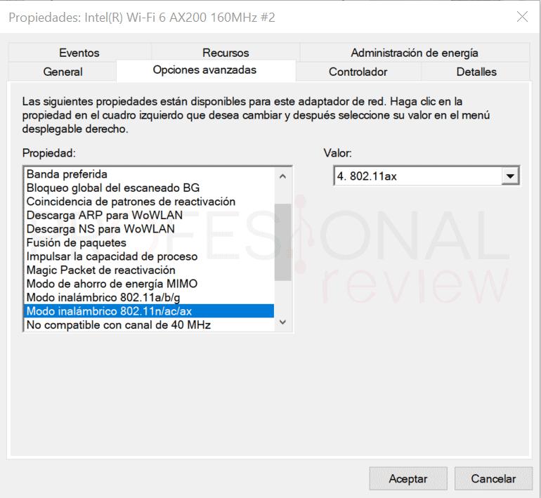 Forzar a conectarte a una red Wifi de 5 GHz paso06