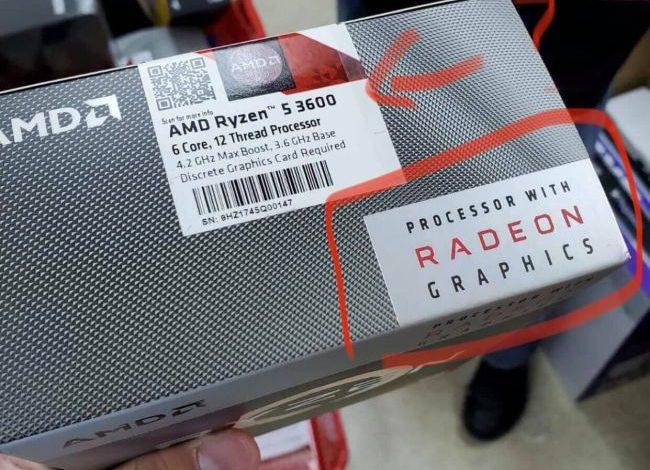 Photo of AMD Ryzen 5 3600 es embalado con cajas del Ryzen 3 3200G